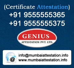 Certificate Attestation From Mumbai